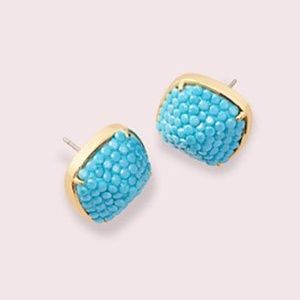 NWT~KATE SPADE~Clay Pave Small Square Studs